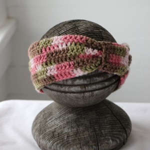Teen Adult Pink Camo Headband Ear Warmer