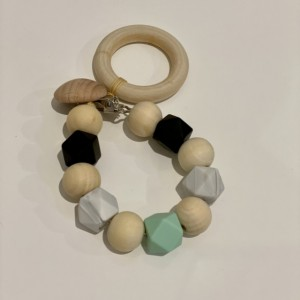 Baby Teether, Wooden & Silicone