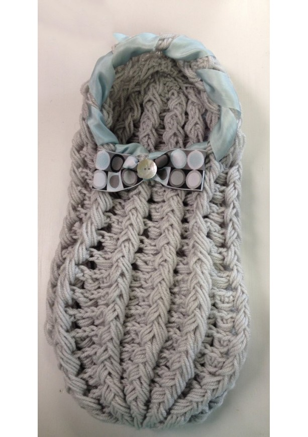 Gray Newborn Cocoon with Bowtie