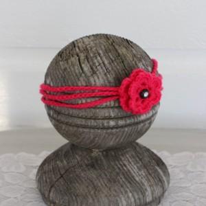 Age 2-5 ~Set of 2 ~ Girls  Rose Pink Headbands, Bow headband, chain headband with flower