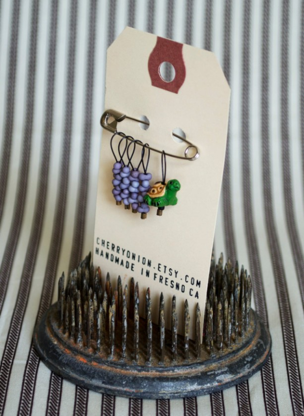 Green Turtle Snag Free Knitting Stitch Markers