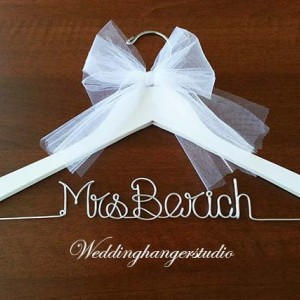 White wedding dress hanger/ NAME hanger/ mrs. hanger / wedding hangers