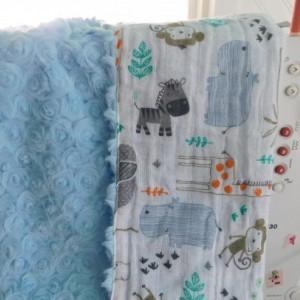 "Baby gift...baby blanket-toddler blanket- tag along blanket-16""×16"""