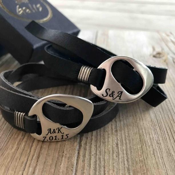 Men's Personalized Bracelet - Men's Engraved Bracelet - Customized Men Bracelet -  Men's Initial Bracelet - Men's Personalized Gift
