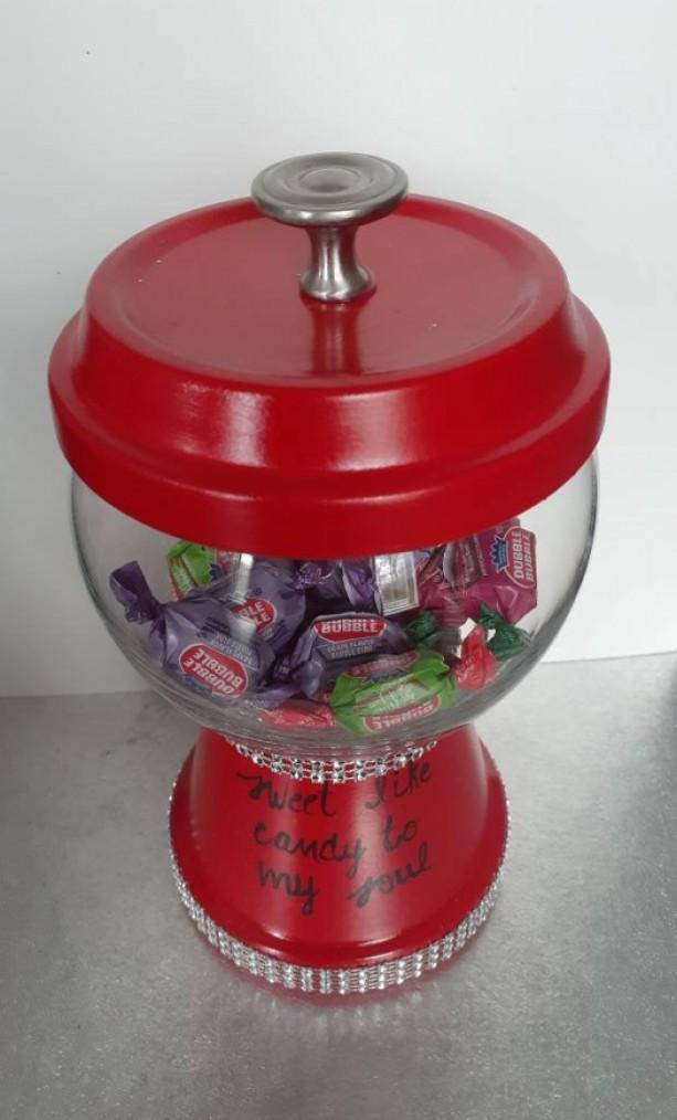Candy JarTreat JarTreat BowlTerracotta Candy JarTerracotta