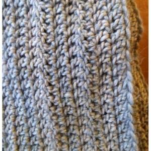 Light Grey Wool Infinity Scarf