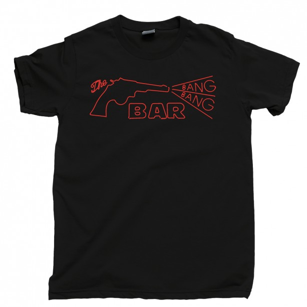 Twin Peaks Men's T Shirt, The Bang Bang Bar Roadhouse Agent Dale Cooper Laura Palmer Donna Hayward Unisex Cotton Tee Shirt