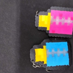 Perler Bead Baby Bottle Keychains