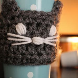 Cat Coffee Travel Mug Sleeve