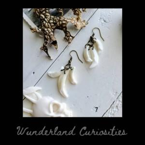 Wunderland jewelry// Coyote teeth earrings// one of a kind