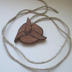 Cherry Klingon Necklace w/Hemp Twine