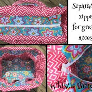 XXL Custom Boutique Diaper Bag / Travel Pockets Made to Order