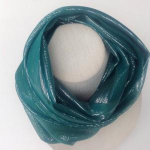 teal circle scarf