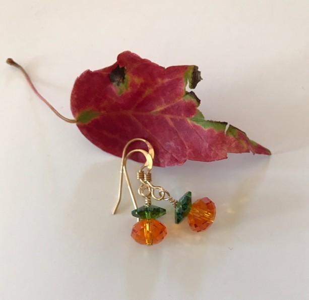 Golden Pumpkin Earrings