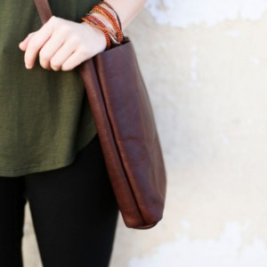 Brown Leather Bag, Tote Bag, Leather Purse (Small)