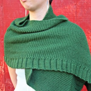 Multi-purpose Green Ruffle Shawl