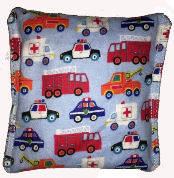 Boo-Boo Bags Hot/Cold Packs Reusable Ouchee Heat Packs 2 BooBoo Packs Total Cars, Trucks