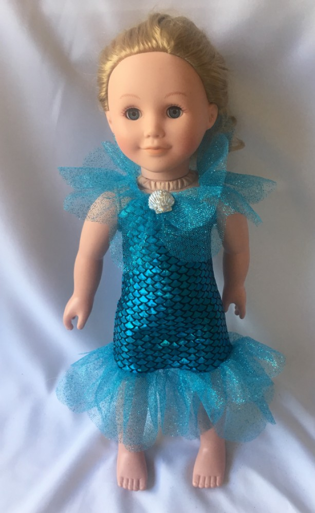 American Girl Doll Mermaid Dress