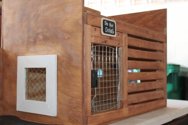 Custom Dog Crate and Bench