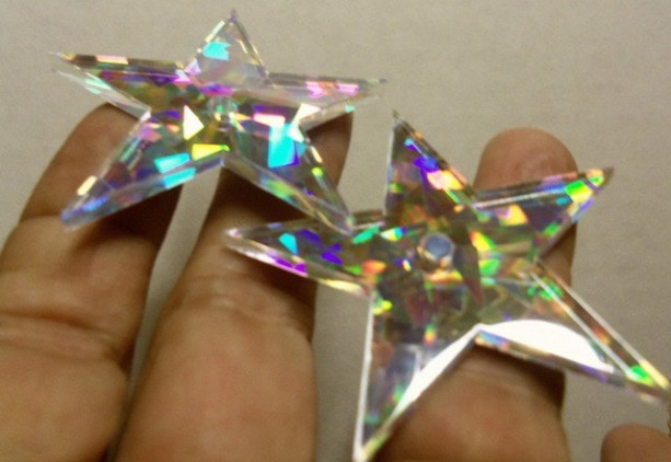 star charms,laser cut,laser cut stars,holographic
