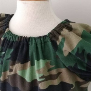 Camouflage Peasent Dress