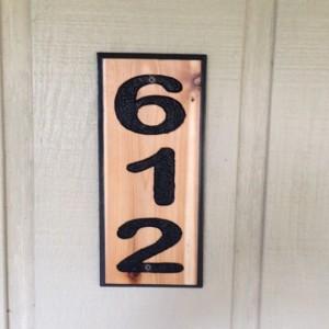 "Custom Personalized Handmade 14"" x 5 1/2"" Routed Cedar Address Sign"