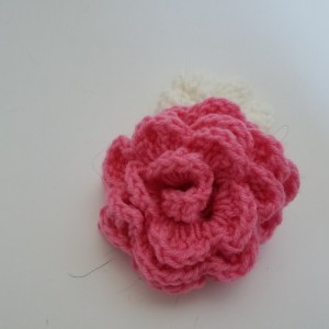 Crochet Flower Scrunchie