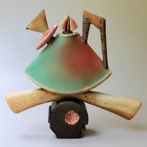 Tea Pot Sculpture Helene Fielder