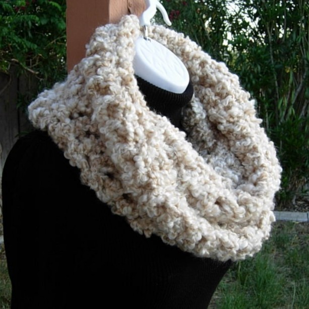 fefd0db80 ... Oversized INFINITY SCARF Loop Cowl Off White, Cream, Beige Large Thick  Bulky Wide Soft ...