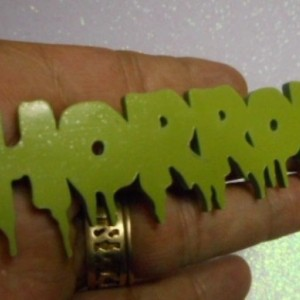 Horror pendants,halloween,laser cut zombie,undead