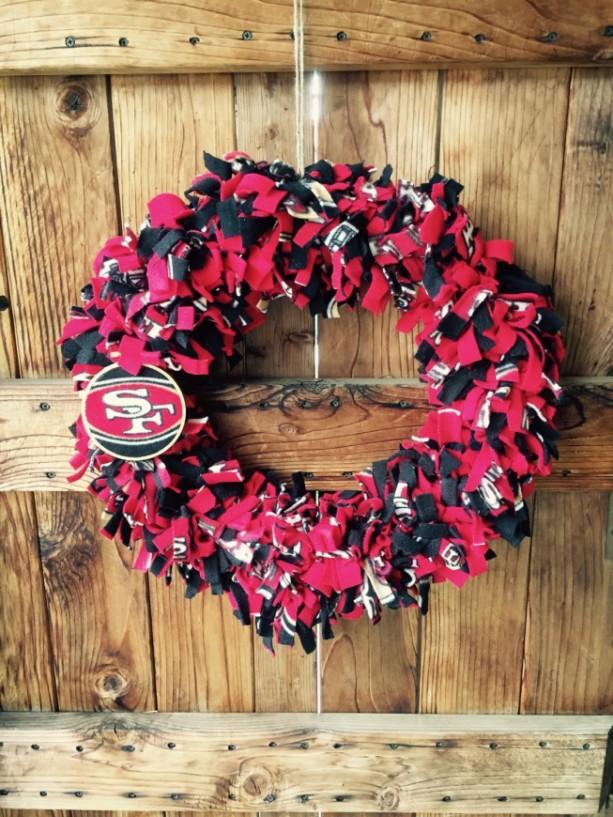 San Francisco 49er Wreath Home Decor Football Season