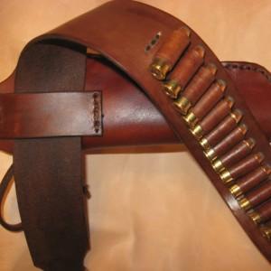 Western Leather Gun Belt/Holster Hip Rig