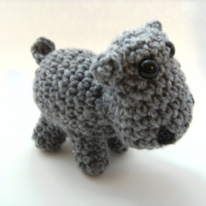 Hippopotomus Crochet Amigurumi Plush Toy