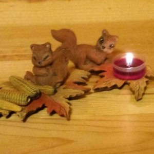 Autumn Harvest tealight set (8 pieces)
