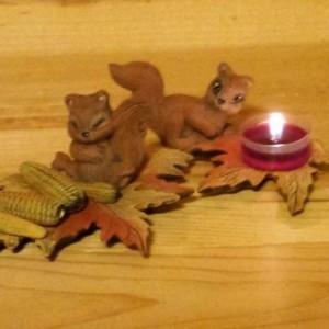 Autumn Harvest tealight set (8 pieces)