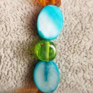 blue shell bracelet