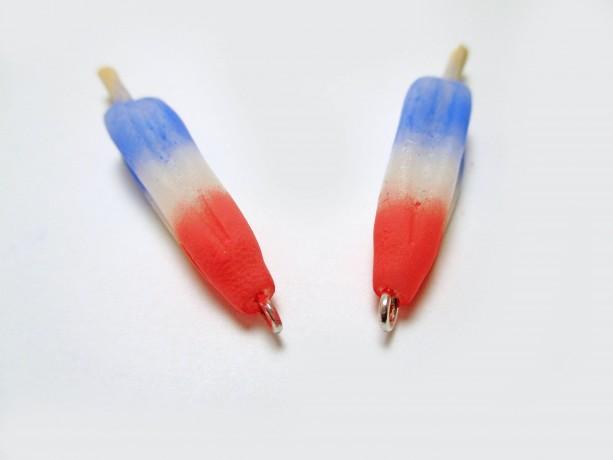 Freedom Popsicle Earrings, The Bomb Pop Earrings, Rocket Pop Earrings, Firecracker Popsicle Earrings, Red White and Blue Popsicle Earrings