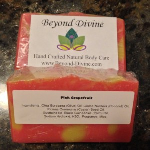 Set of 2 Pink Grapefruit Soap Bar|Handmade|All Natural