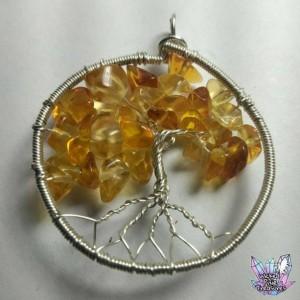 Citrine Tree of Life Pendant / Citrine pendant /Nature Jewelry / Gemstone Tree / Tree Pendant / Hippie Jewelry /Festival Pendant