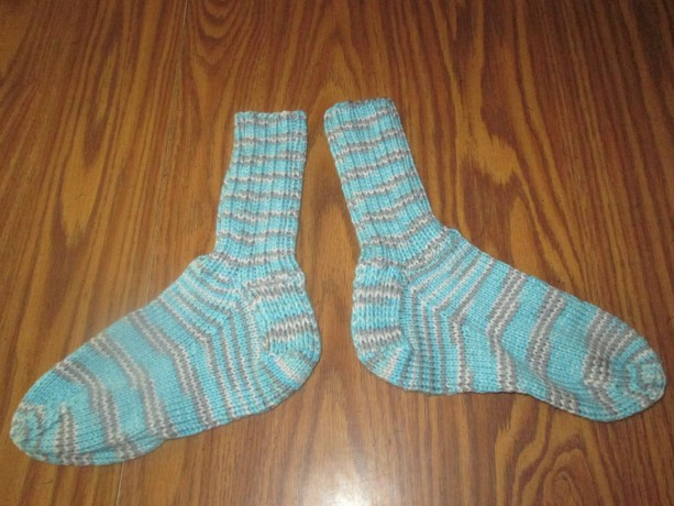 Hand Knit Adult Winter Socks- Icelandic
