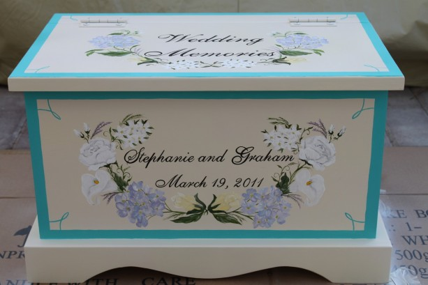 Wedding Keepsake Chest Memory Box personalized wedding gift