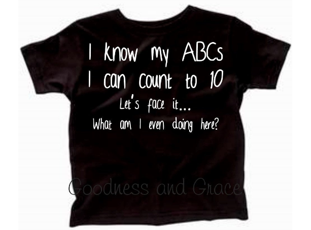 Back to School Tee - I Know My ABCs Let's Face it...What Am I Even Doing Here?