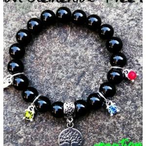 Onyx Elemental Beaded Bracelet