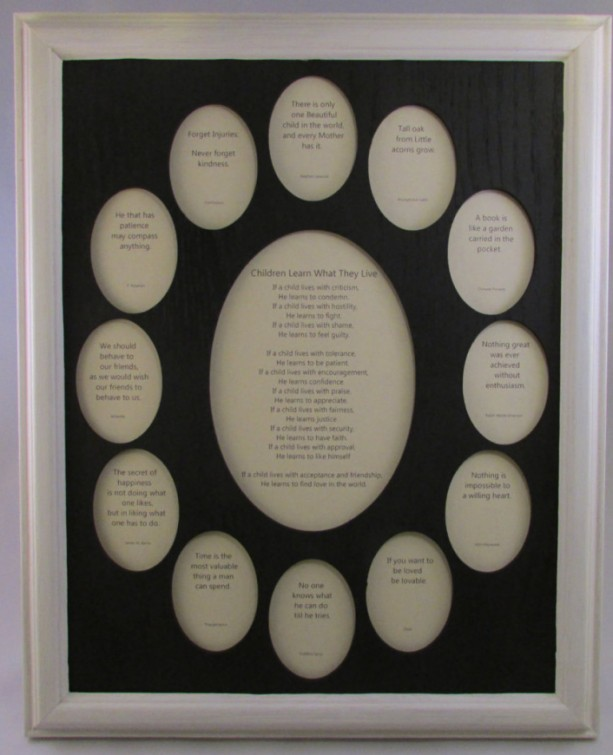 School Years Frame Collage K 12 Graduation Oval White Picture Black Matte 11x14