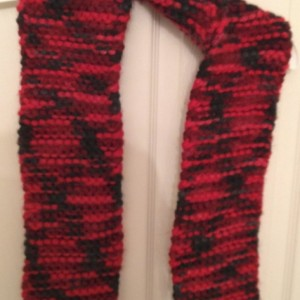 Chunky Rasberry Scarf Pink Burgundy Red