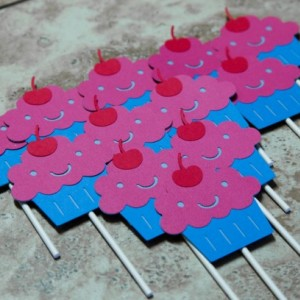 Pinkalicious Pink cupcake toppers- 18 pack mixture