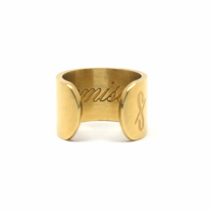 PROMISCUOUS RING: 18-KARAT GOLD (MATTE)