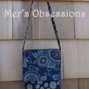 Mini Messenger Bag, Japanese Fabric