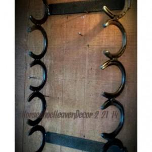 Country rustic horseshoe towel or Gun rack, rustic Gun rack, Country bathroom decor, Rustic home decor, Handmade rustic towel rack, country