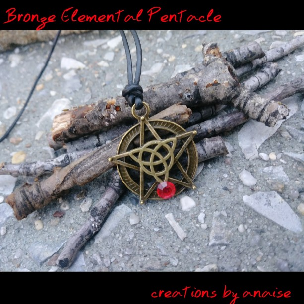 Bronze Pentacle Fire Goddess